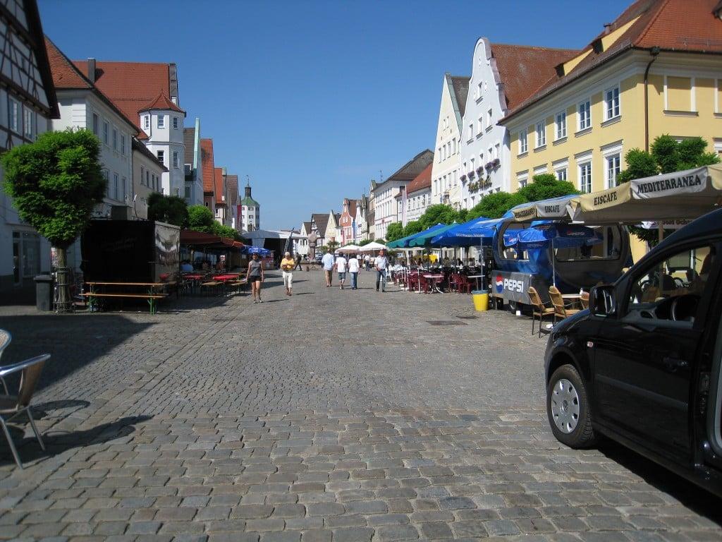 Street scene of Gunzburg, Germany