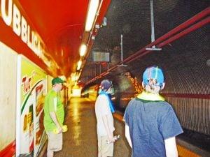 Family in Rome Metro Underground