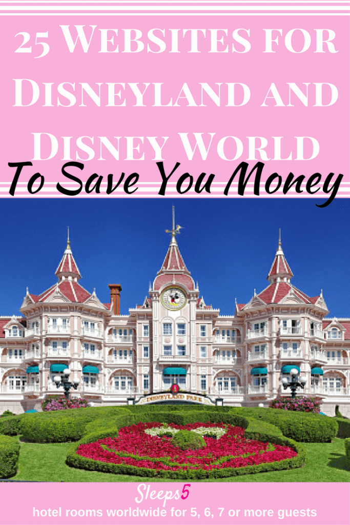 25 Websites to Save Money at Disney Parks