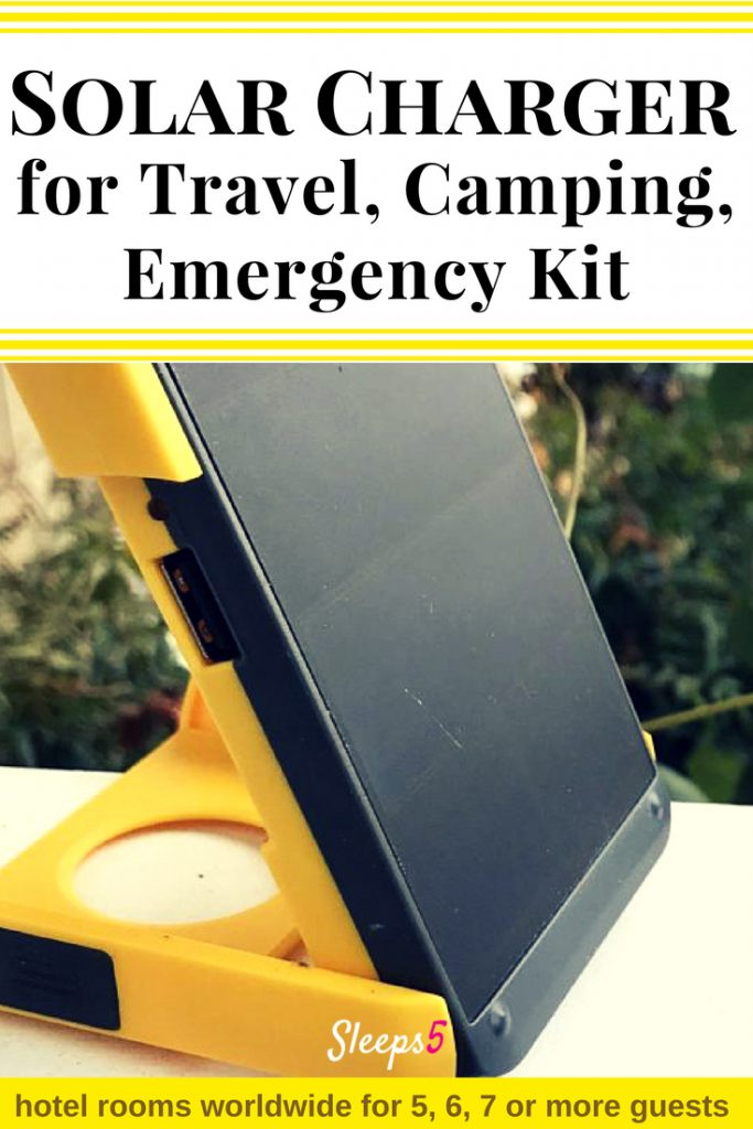 Solar Charger for Travel, Camping, and Emergency Kit