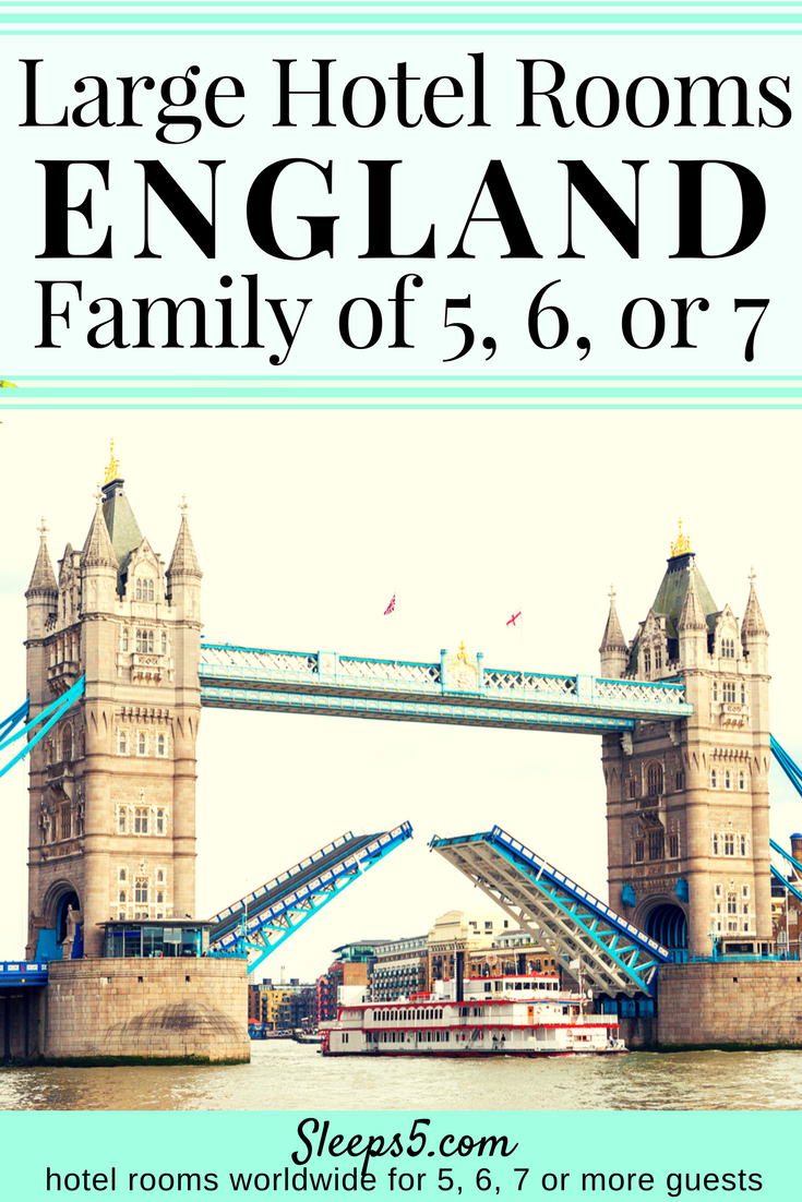 london family hotels page has an interactive map